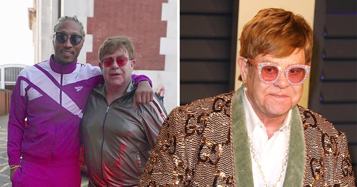 Elton John and Future tease collaboration with studio photo and it's the most unlikely friendship