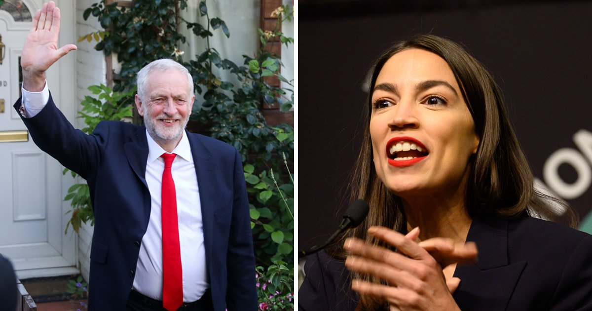 Jeremy Corbyn gives gardening tips to Alexandria Ocasio-Cortez