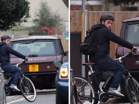 Ant McPartlin back on the road as he takes bike ride a year after driving ban