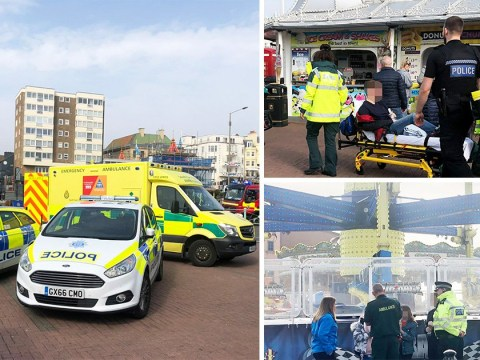 Teenager among four injured after fairground ride comes loose on Brighton pier