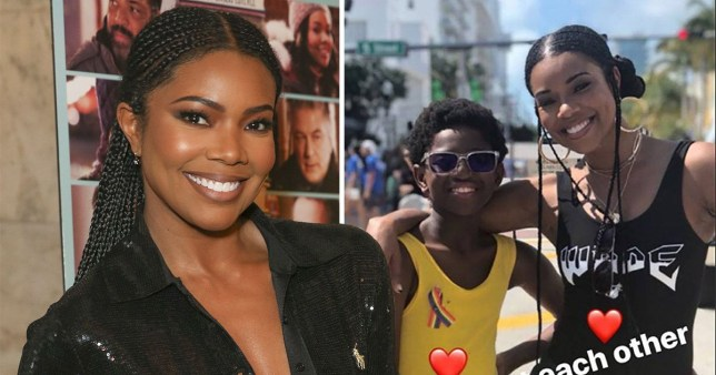 Gabrielle Union supports Dwyane Wade's son at Miami Pride