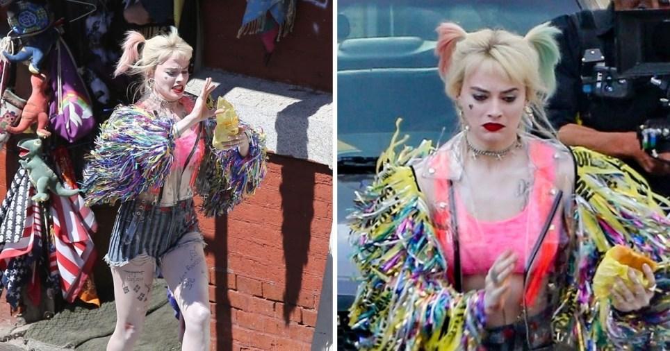 Margot Robbie S Harley Quinn Chomps Burger Loses Shoe And Flees Police Metro News