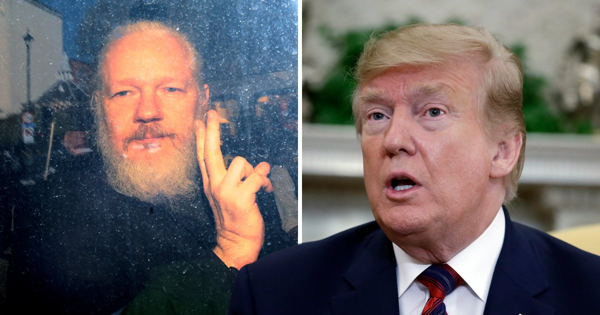 Trump claims to 'know nothing' about Assange despite praising WikiLeaks in the past