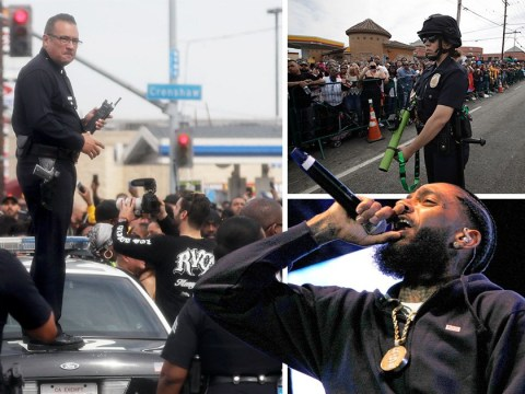 Rapper Nipsey Hussle's funeral turns violent as man is shot dead in drive-by