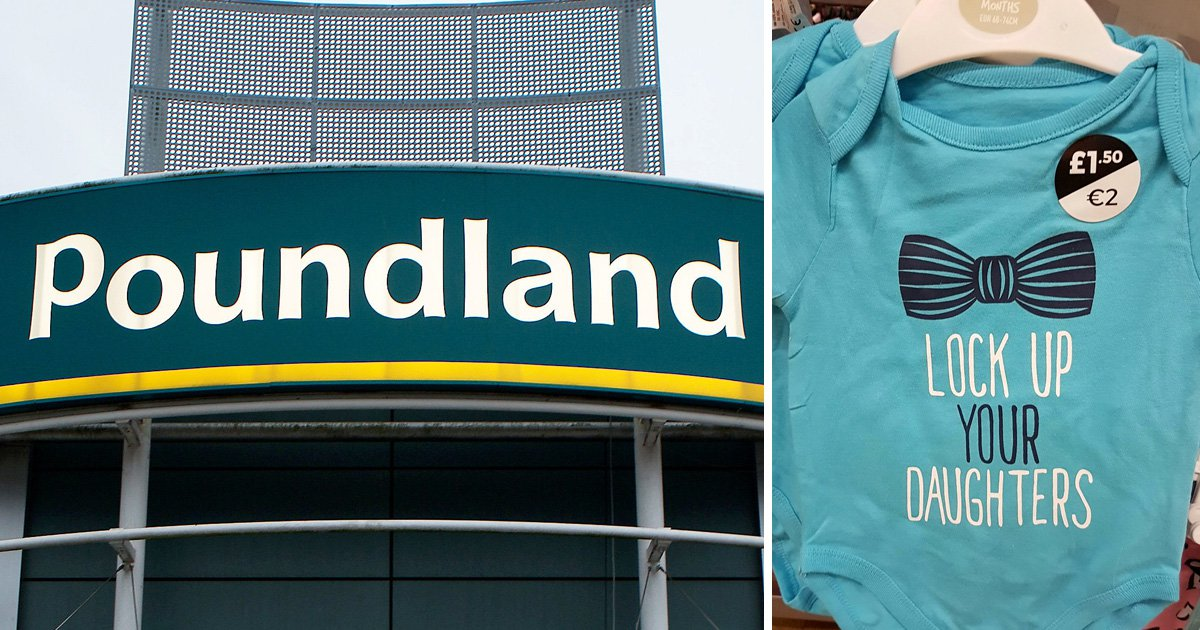 Mum slams Poundland for selling babygrow which 'teaches boys how to be sex pests'