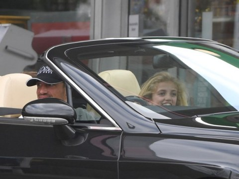 Peter Andre shrugs off angry Katie Price jobes as he takes Princess on a ride in new £80,000 Bentley