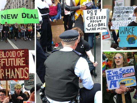 Teenagers ignore arrest threats as climate change march brings traffic to standstill