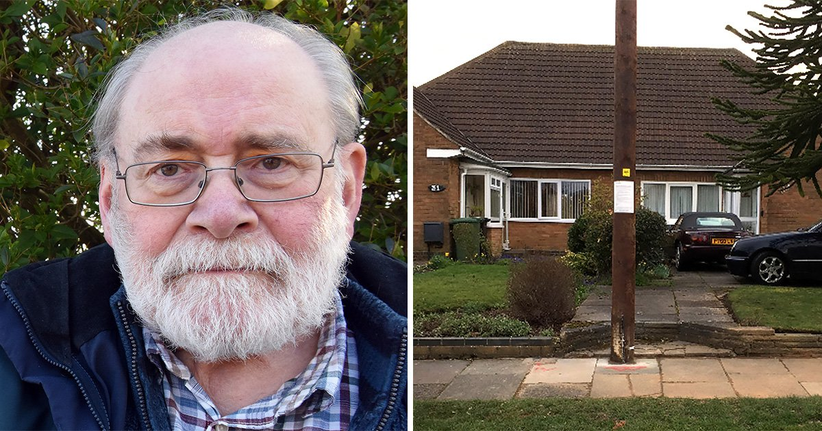 Pensioner slams BT Openreach after engineers place pole on his footpath