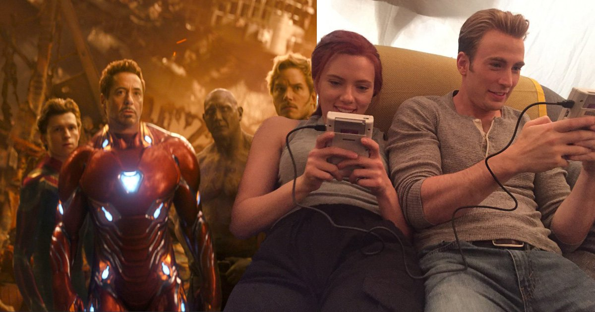Black Widow and Captain America take break from defeating Thanos to chill out with Game Boys