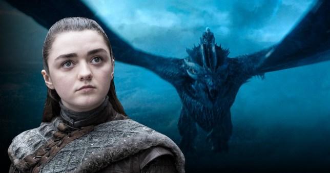Arya Stark and The Night King in Game of Thrones season 8