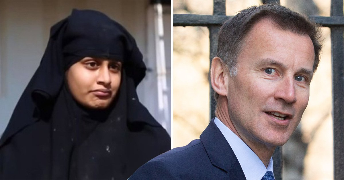Jeremy Hunt says giving Shamima Begum legal aid is making him 'uncomfortable'