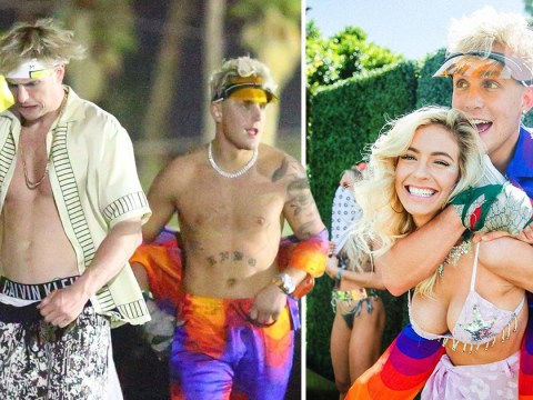 YouTubers Jake and Logan Paul rock Coachella outfits as shy and retiring as they are