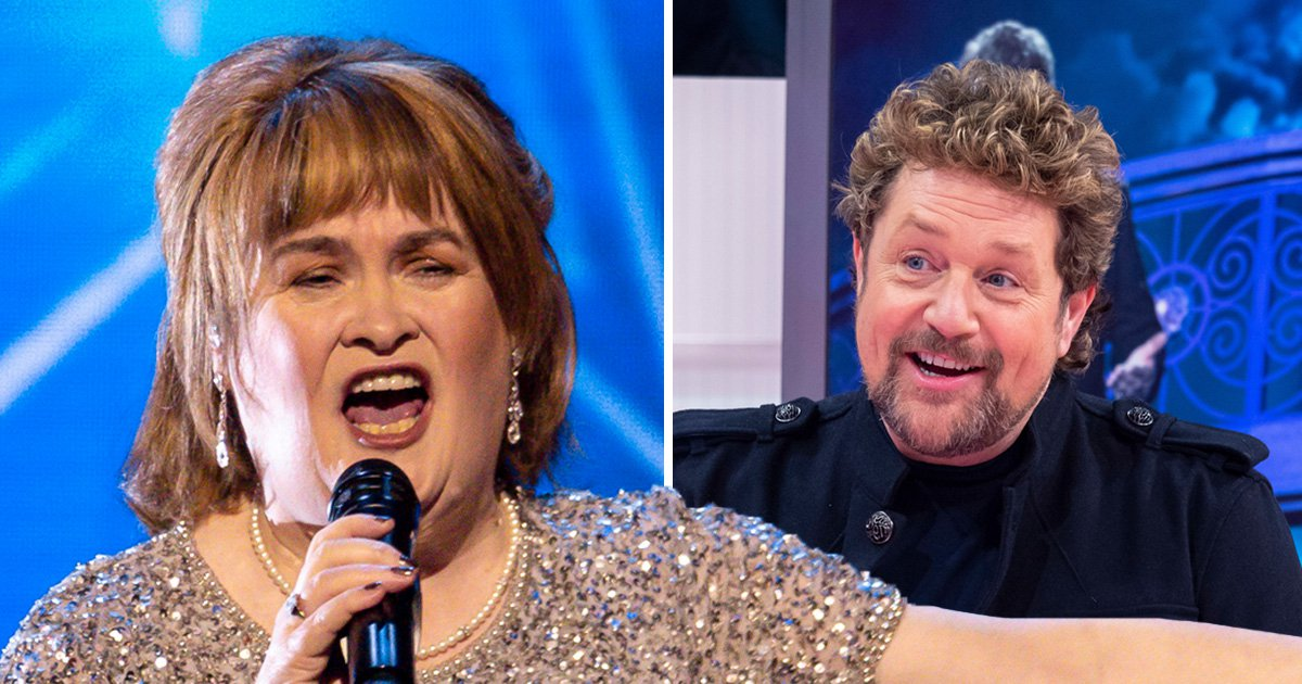 Susan Boyle and Michael Ball