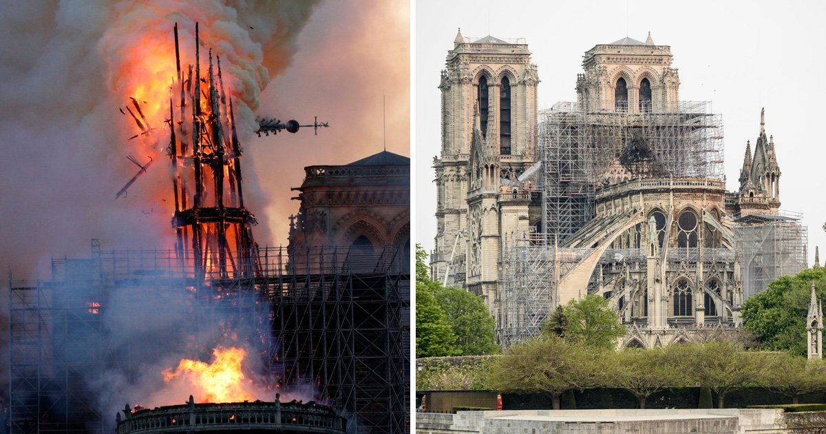 Notre Dame fire is finally extinguished after overnight battle to put out flames