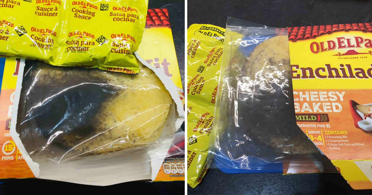 Shopper finds Old El Paso tortillas covered in black mould