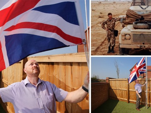 Gulf war veteran forced to take down Union flag by housing developer