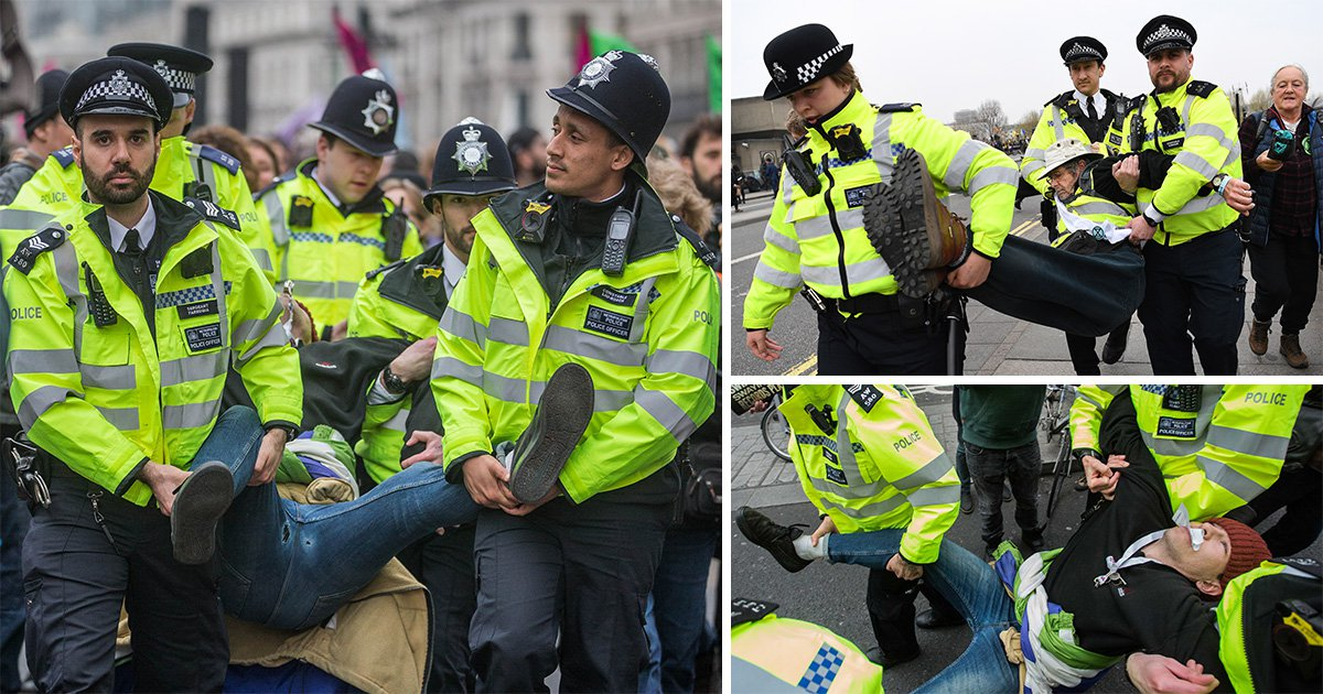 More than 280 people arrested in connection with London climate change protests