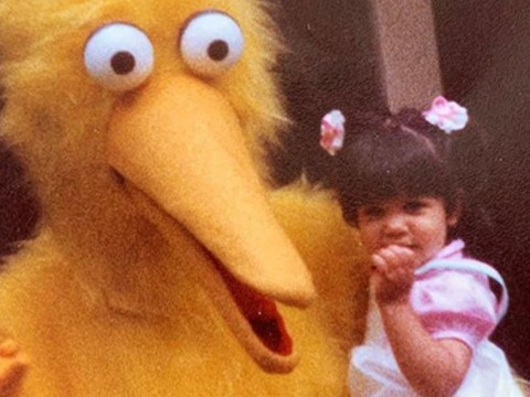 Kourtney Kardashian's second birthday party with a strung out Big Bird is quite horrifying