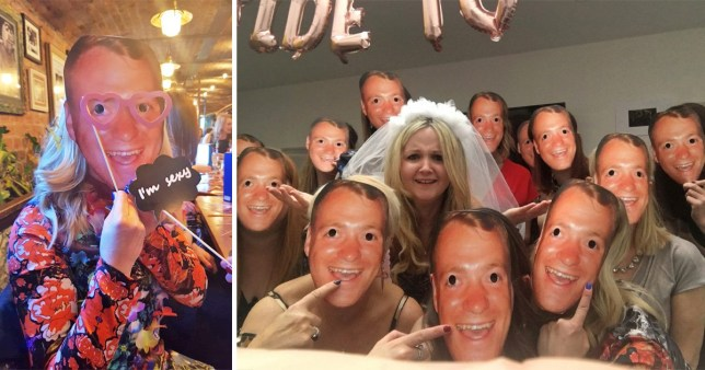 This hen party were sent the wrong masks