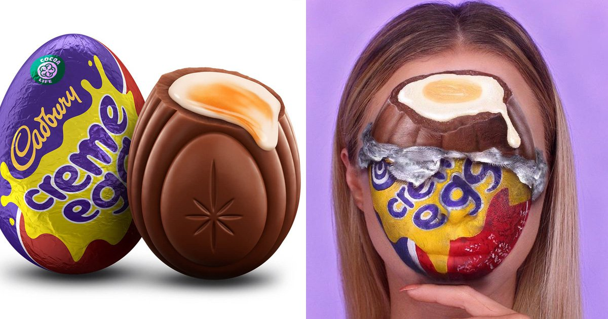 Easter egg makeup: People are turning themselves into Creme Eggs for Easter weekend