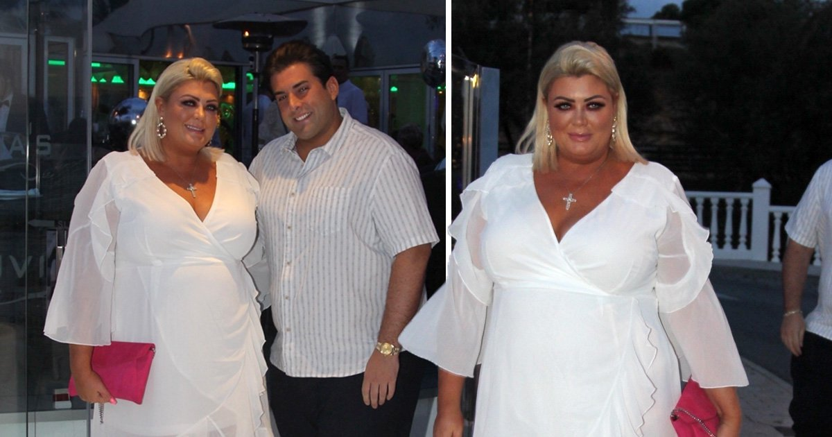James Argent serenades Gemma Collins on stage as pair celebrate opening of Malaga restaurant