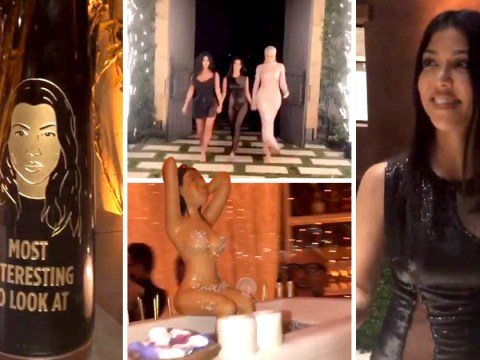 Inside Kourtney Kardashian's extra AF 40th birthday party, complete with cake of her naked body