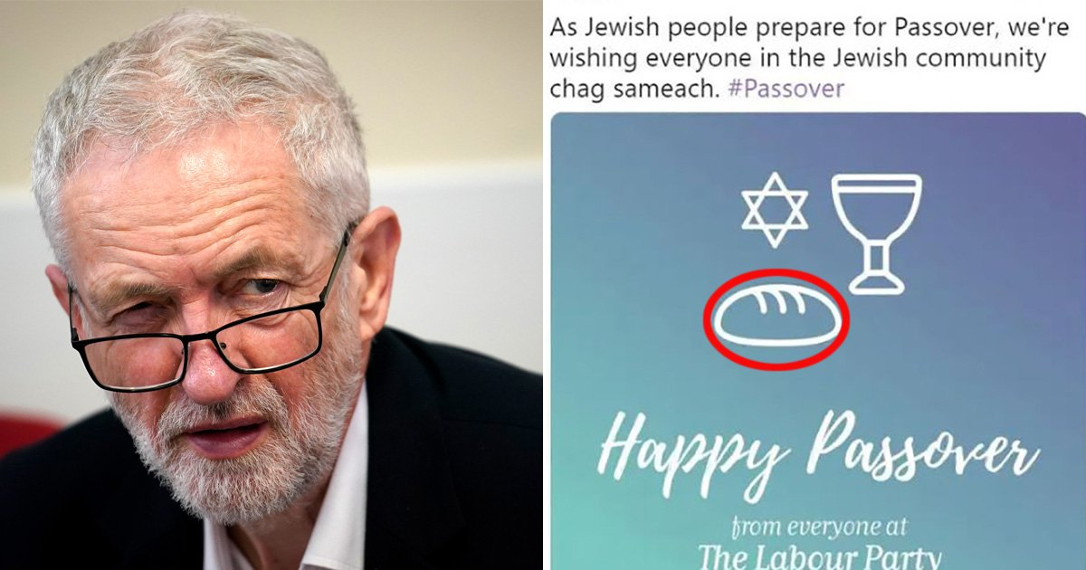 Labour Party under fire after making blunder in tweet about Jewish Passover