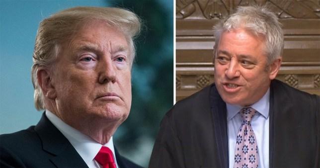 Bercow said Trump should not speak before Parliament
