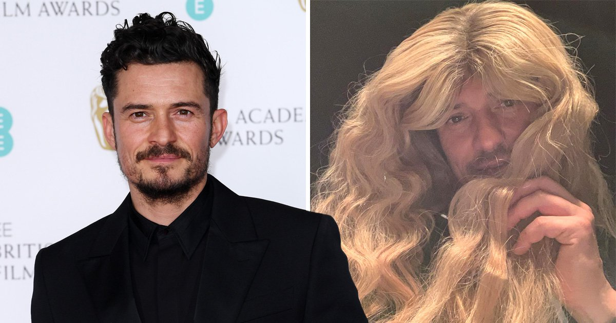 Orlando Bloom stole Katy Perry's blonde wig and it feels like 2001 again