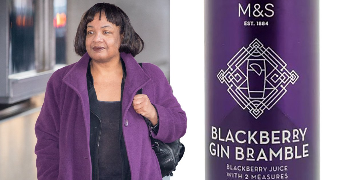 Someone turned Diane Abbott into every M&S canned cocktail and it's glorious