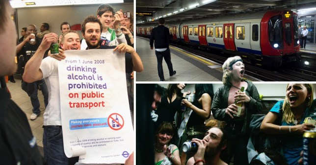 It's against the law to drink alcohol on any London public transport (Picture: Getty)
