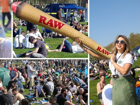Thousands get royally stoned in Hyde Park for 4/20