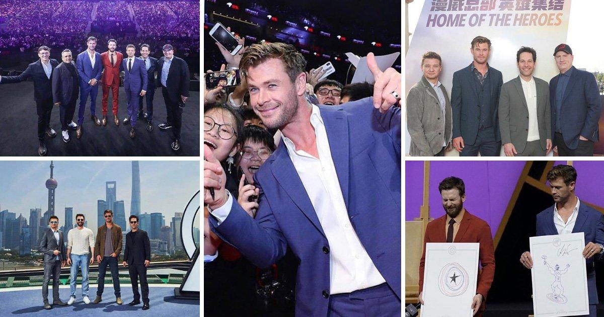 Avengers star Chris Hemsworth shares heartbreaking snaps saying goodbye to Thor ahead of Endgame
