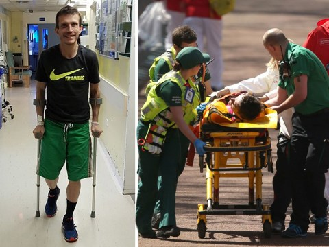 Runner reveals agony of hearing his leg 'snap' metres from marathon finish line