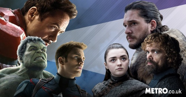 Avengers: Endgame's Iron Man, Captain America and Hulk, and Game Of Thrones' Jon Snow, Arya Stark and Tyrion Lannister