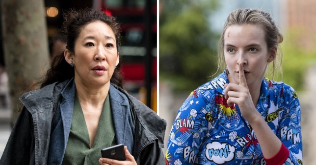 Sandra Oh as Eve and Jodie Comer as Villanelle in Killing Eve BBC One