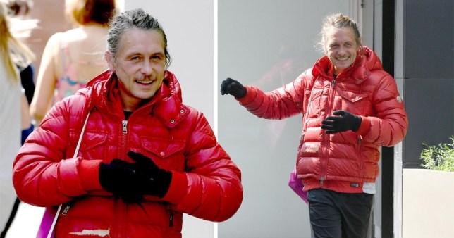 Take That's Mark Owen takes jog in thick jacket