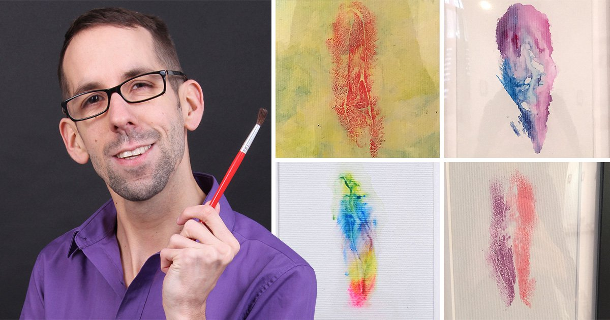 Artist takes vulva prints from people he finds on Tinder