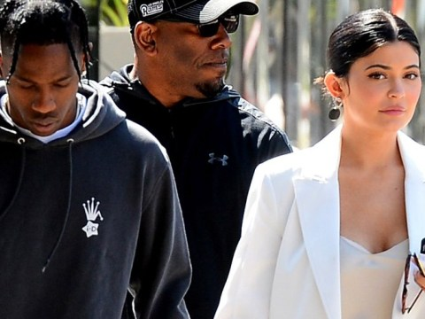 Kylie Jenner goes casual in a gown for day out with Travis Scott as they return from Coachella