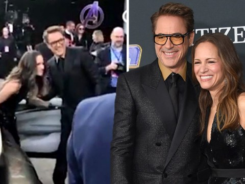 Robert Downey Jr is every bit Tony Stark as he opens wife's car door at Avengers: Endgame premiere