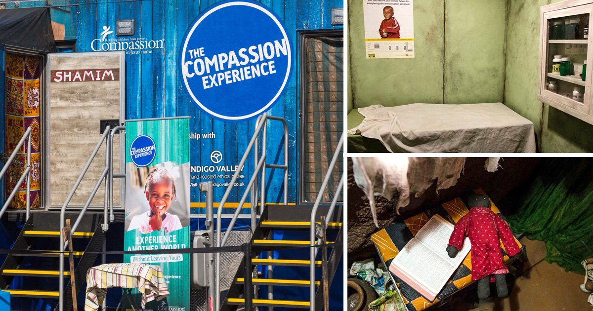 The Compassion Experience takes visitors through a series of spaces depicting rooms in 'developing countries' (Picture: Carolyn Jenkins/Alamy Live News)