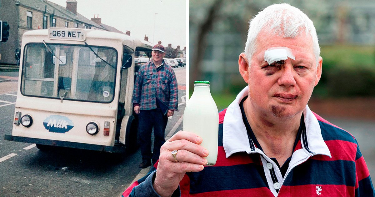 Milkman who hasn't missed a shift forced to retire after 50 years after being attacked