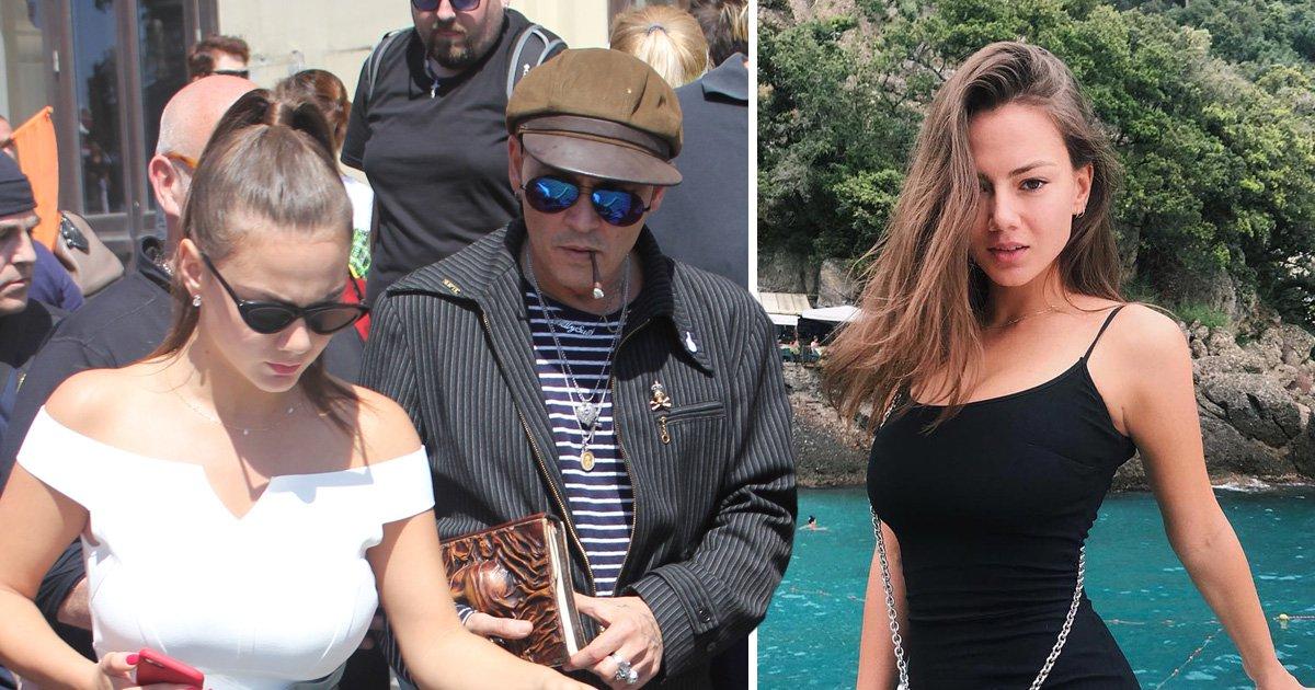Johnny Depp and girlfriend