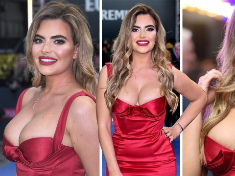 Megan Barton-Hanson serves Jessica Rabbit vibes as she rubs shoulders with Zac Efron