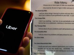 Lyft driver offers menu of 'the stand-up', 'creepy' or 'sado-masochist' ride
