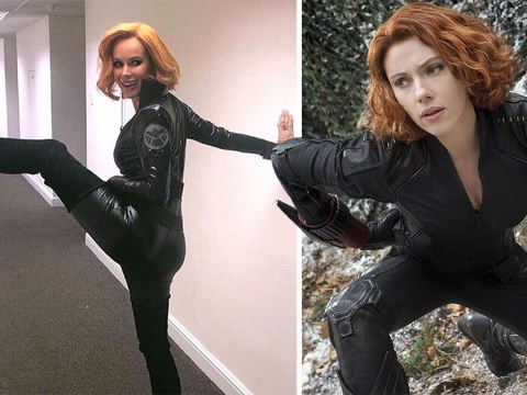 Amanda Holden has Endgame fever as she dresses up as ScarJo's Black Widow
