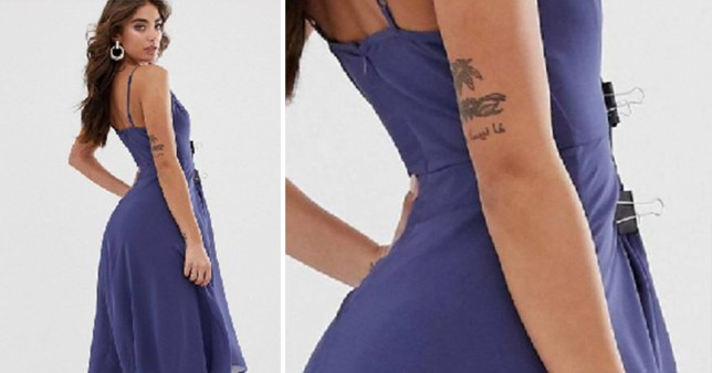 ASOS caught adding clips to dress