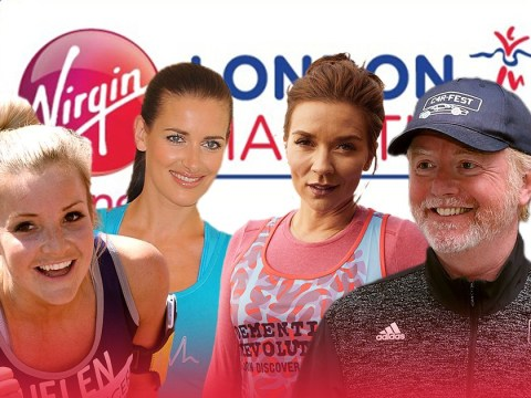 Which celebrities are running the London Marathon this year – from Chris Evans to Kirsty Gallacher?