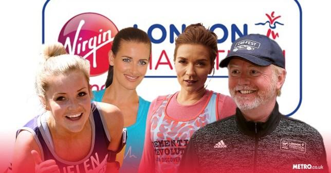 Celebrities running the 2019 London Marathon comp
