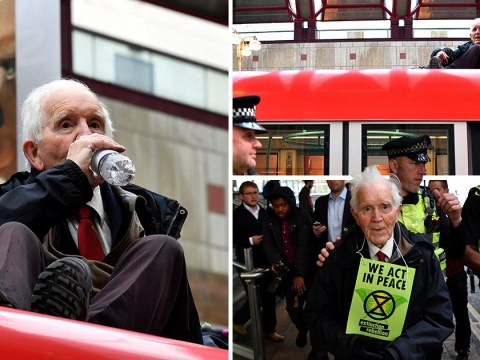 Pensioner arrested after climbing on train for 83rd birthday